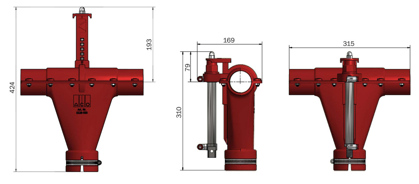 Master Valve Dry dimensions